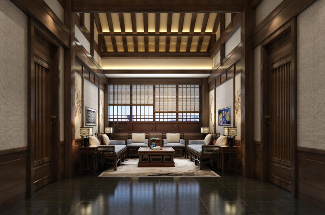 中式高端私人会所装修,成功在于设计的创意性。