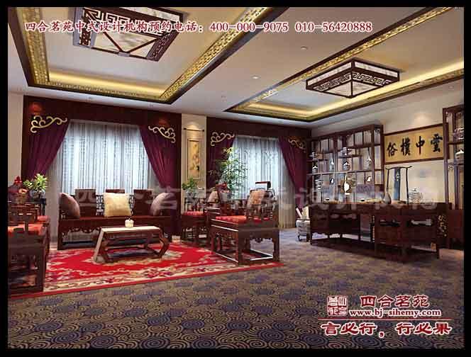 华阴中式酒店装修效果图之三层vip