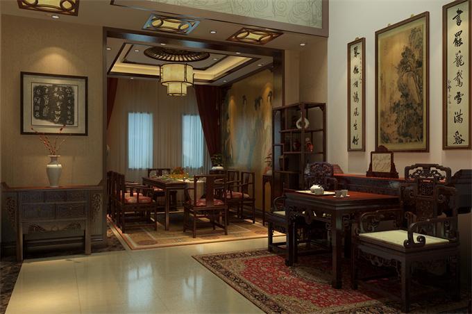 【中式裝修設計|古典四合院|別墅會所茶樓酒店裝飾】