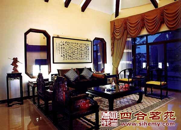 传统中式别墅设计装修中的红木文化