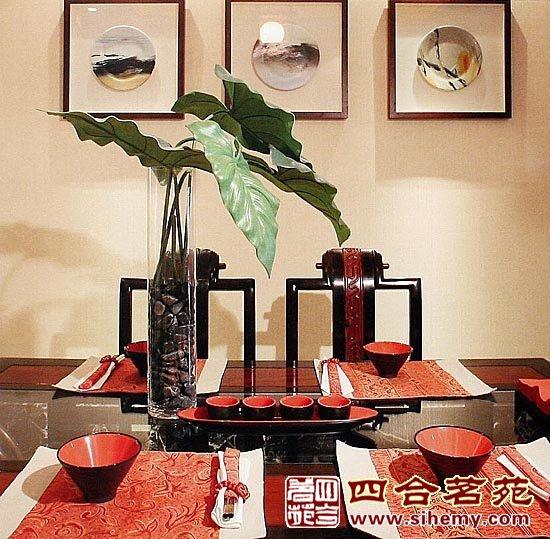 中式装修茶墨飘香古典中式别墅-餐厅效果