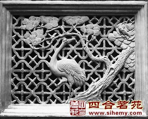 江南园林砖雕漏窗