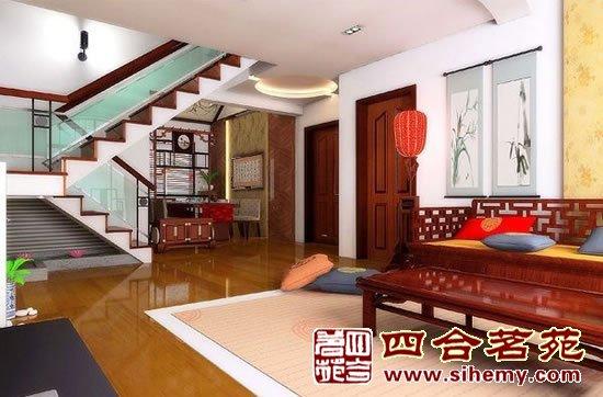 现代简约中式风格家居装修-楼梯处效果