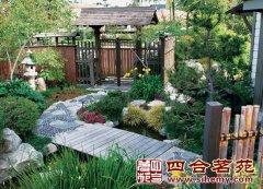 古建园林景观 四合院景观 别墅景观 庭园装修效果图 图片