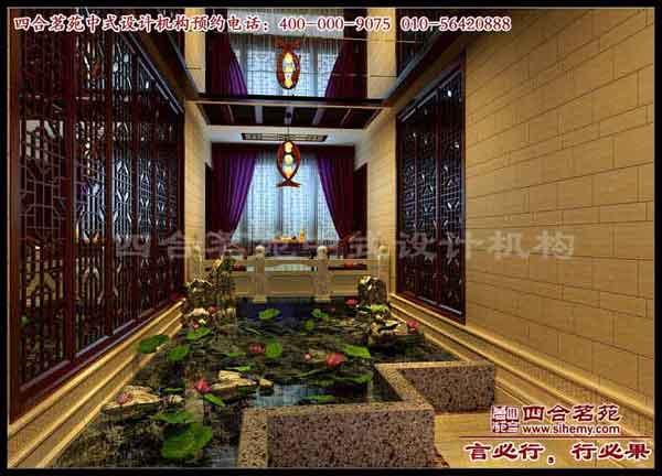 在四合茗苑设计师的设计下,整体环境展现出皇家宫廷的效果.