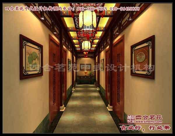 怀化中式酒店装修设计案例