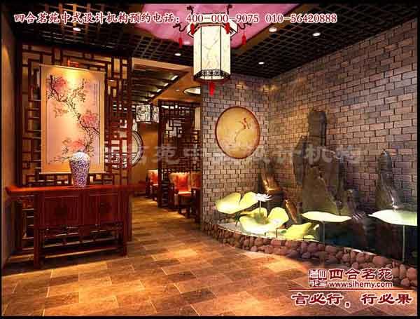 中式茶楼装修理念茶楼装修设计--静闲斋茶楼效果图