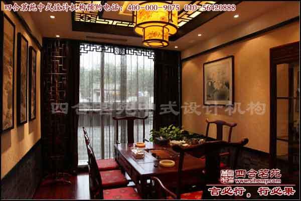 茶楼装修设计,中式茶楼效果图-茶楼装修 御翠茗缘一层包间高清图片