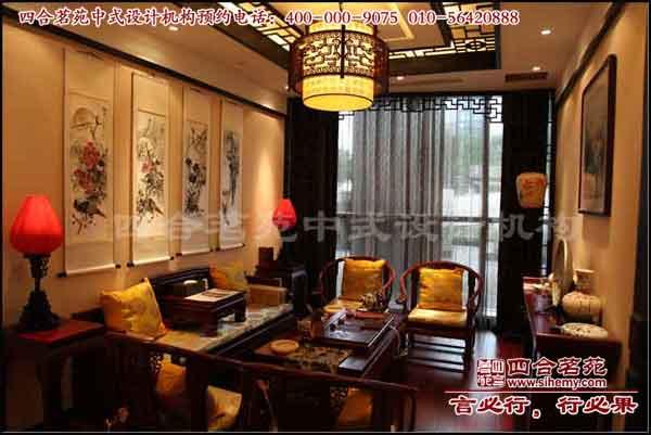 茶楼装修设计,中式茶楼效果图-茶楼装修 御翠茗缘一层包间