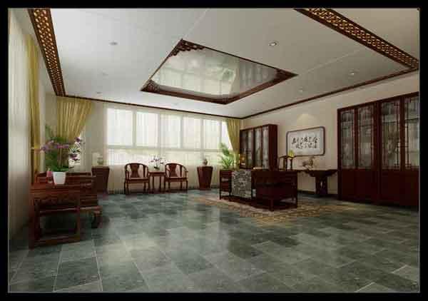 展厅中式设计之伯艺效果图