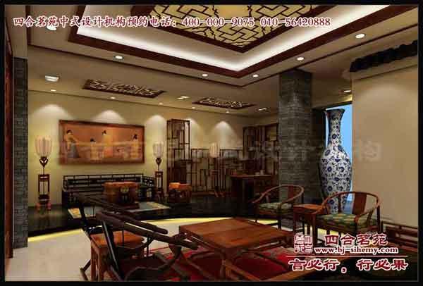 红木楼展厅效果图  北京四合茗苑中式设计品牌机构 是一家专业从事