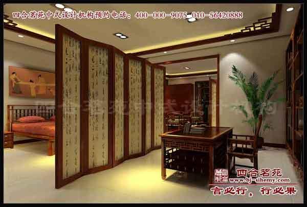 合茗苑中式装修设计展厅中式设计之红木楼展厅效果图