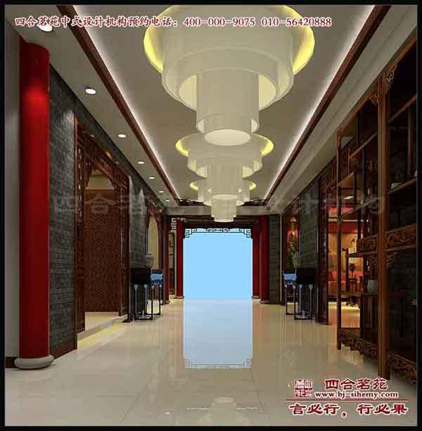 提供服务四合茗苑中式装修设计展厅中式设计之红木楼展厅效果图