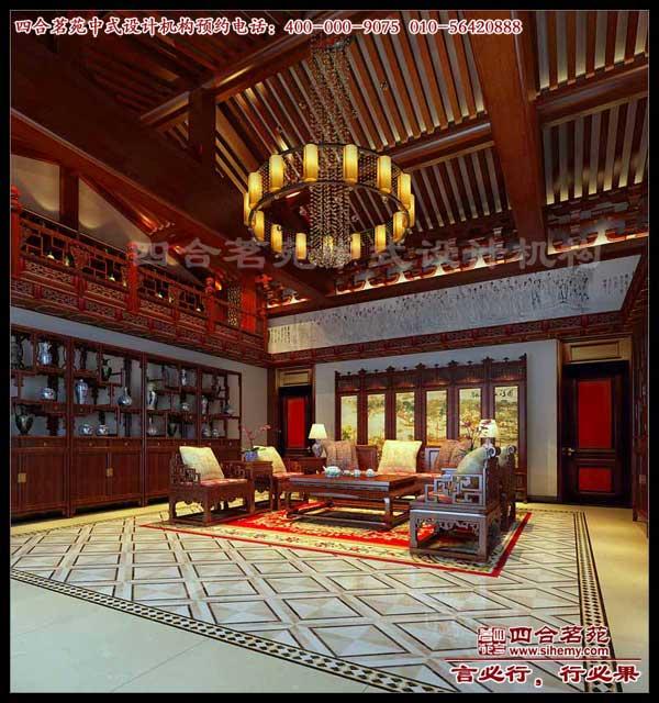 首页 中式别墅 别墅中式设计     中堂—&