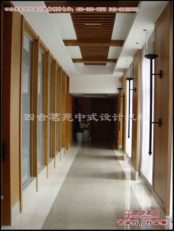 中式会所装修 中式会所装修效果图 中式会所装修案例-长廊