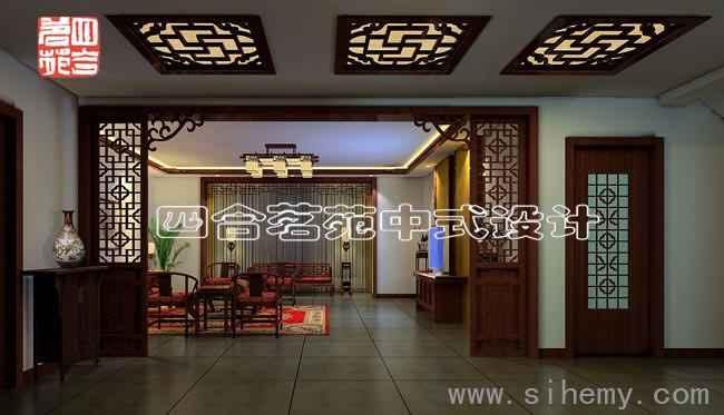 木雕中式装修; 新古典中式客厅:岁月的积淀便如这红木的光泽日久见深